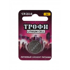Батарейки Трофи CR1616-1BL 1шт/бл Б0003645