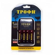 Зарядное устройство ТРОФИ TR-120 АA + 4 HR6 2300mAh (6/24/576) C0031280
