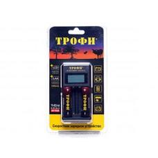 Зарядное устройство ТРОФИ TR-803 AA LCD скоростное+2 HR6 2500mAh C0031282