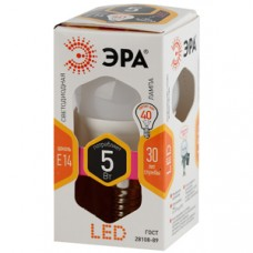 Лампа светодиодная ЭРА LED smd P45-5w-827-E27 Б0028486
