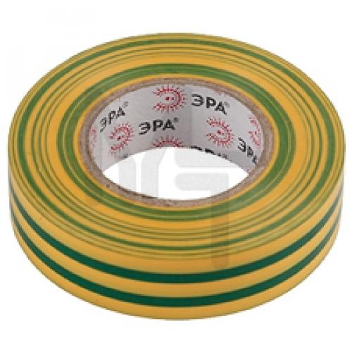 Изолента ПВХ 15мм*20м желто-зеленая ЭРА C0036548