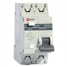 Дифференциальный автомат АД-32 1P+N 10А/30мА (хар. C, AC, электронный, защита 270В) 4,5кА EKF PROxima DA32-10-30-pro