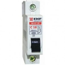Автоматический выключатель 1P 63А (C) 4,5кА ВА 47-29 EKF Basic mcb4729-1-63C
