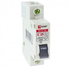 Автоматический выключатель 1P 6А (C) 4,5кА ВА 47-29 EKF Basic mcb4729-1-06C