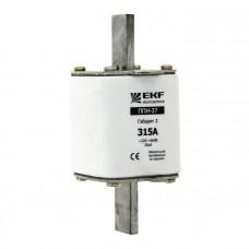 Плавкая вставка ППН-37 400/350А габарит 2 EKF PROxima fus-37/400/350