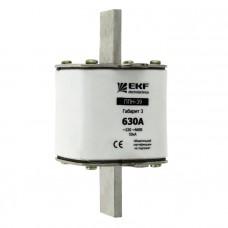 Плавкая вставка ППН-39 630/500А габарит 3 EKF PROxima fus-39/630/500