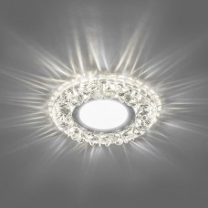CD905 Светильник встраиваемый, 15LED*2835 SMD 4000K, MR16 50W G5.3, белый, хром 28848