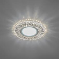 CD906 Светильник встраиваемый, 15LED*2835 SMD 4000K, MR16 50W G5.3, белый, хром 28849