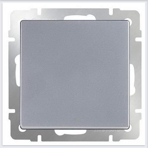 Выключатель одноклавишный /WL06-SW-1G (серебряный) a029820