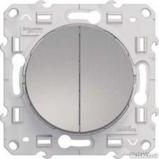 Odace Алюминий Выключатель 2-клавишный 10А Schnaider S53R211