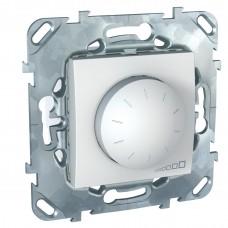 SE Unica Бел Светорегулятор поворотный 40-400W для л/н и г/л с обмот. тр-ром, перекл  Schnaider MGU5.511.18ZD