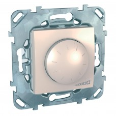 SE Unica Беж Светорегулятор поворотный 40-400W для л/н и г/л с обмот. тр-ром, перекл Schnaider MGU5.511.25ZD