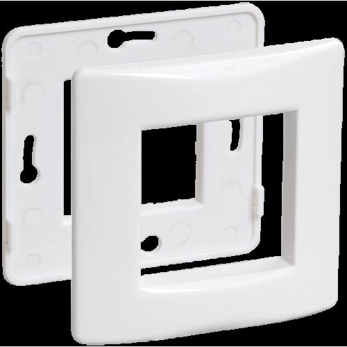 Рамка и суппорт для коробок КМКУ на 2 модуля белые IEK CKK-40D-RSK2-K01