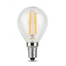 Лампа Gauss LED Filament Шар E14 5W 420lm 2700K 1/10/50 105801105