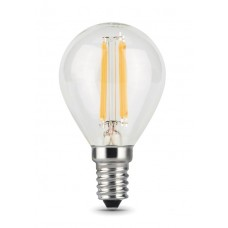 Лампа Gauss LED Filament Шар E14 5W 450lm 4100K 1/10/50 105801205