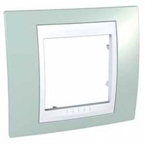UnicaCh Рамка 1-ная, морск. волна/бел. (max 20) MGU6.002.870