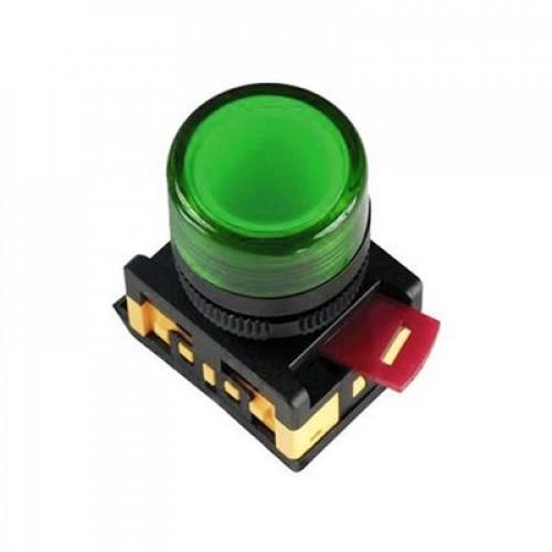 Лампа AL-22TE сигнальная d22мм зеленый неон/240В цилиндр ИЭК BLS30-ALTE-K06