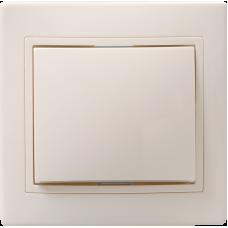 ВСп10-1-0-ККм Выключатель 1кл проход. 10А КВАРТА (кремовый) EVK12-K33-10-DM