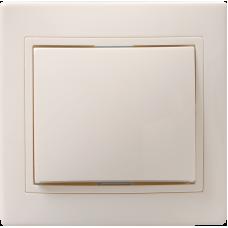 ВСк10-1-0-ККм Выключатель 1кл кноп. 10А КВАРТА (кремовый) EVK13-K33-10-DM