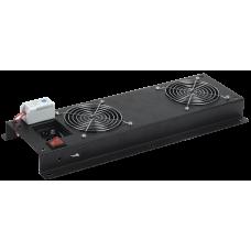 ITK Вентиляторная панель с выключателем и термостатом 3 модуля черная FM05-32M