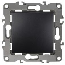 12-1101-05  ЭРА Выключатель, 10АХ-250В, Эра12, антрацит Б0014625