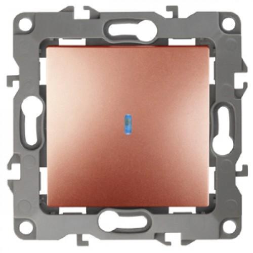 12-1102-14  ЭРА Выключатель с подсветкой, 10АХ-250В, Эра12, медь Б0019282