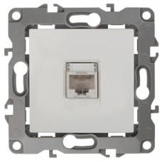 12-3107-01 ЭРА Розетка информационная RJ45, Эра12, белый Б0014723