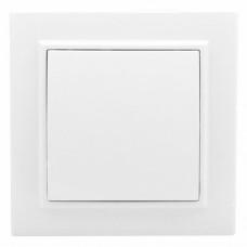 Минск Выключатель 1-клавишный СП проходной, 10А, белый EKF Basic ERV10-025-10
