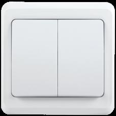 ВС10-2-0-ВБ Выключатель 2 кл 10А ВЕГА (белый) IEK EVV20-K01-10-DM