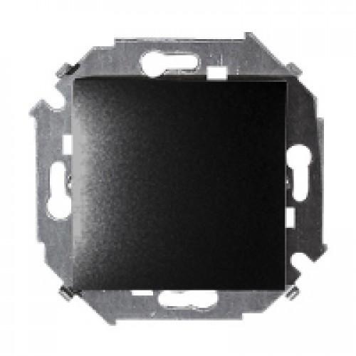Выключатель одноклавишный, 16А 250В, винтовой зажим, графит 1591101-038