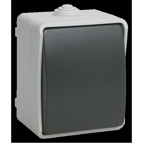 ВС20-1-0-ФСр Выключатель одноклавишный для открытой установки ФОРС IP54 IEK EVS10-K03-10-54-DC