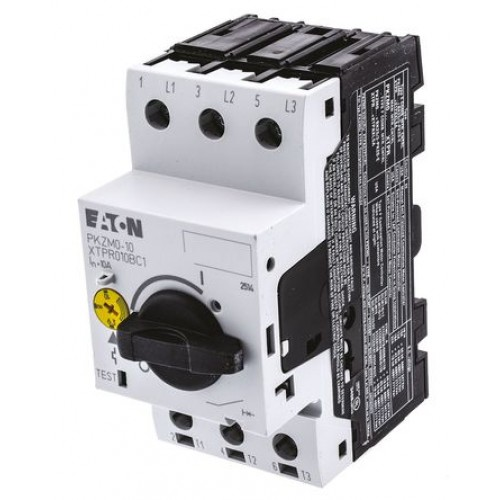 PKZM0-10 Автоматический выключатель защиты двигателя 10А, 3 полюса, откл.способность1 50кА, диапазон уставки 6,3...10А 072739