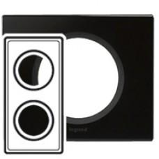 Legrand Celiane Черное стекло Рамка 2-ая 069302