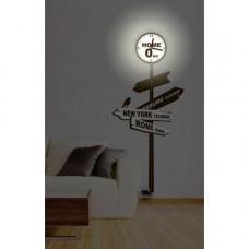 NL73 8*0,5W LEDs 5730smd светильник-часы с USB-проводом (5V адаптер в комплект не входит) 1*AA бат 23285