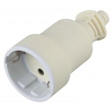 R4(W)  ЭРА Розетка кабельная c/з 16A прямой ввод белая (10/200/4000) Б0019190