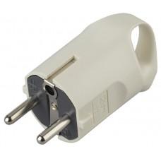 V3  ЭРА Вилка c/з 16A с кольцом непрямой ввод белая (10/200/6000) Б0019186