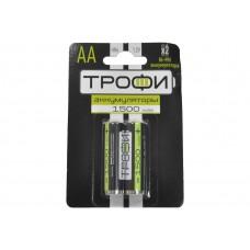 Аккумулятор ТРОФИ  HR6-2BL АА 2шт/бл 1500 mAh Б0019500