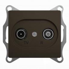 SE Glossa TV-R розетка проходная 4DB, механизм,шоколад SE GSL000895