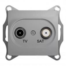 Glossa Алюминий TV-SAT Розетка проходная 4DB GSL000398
