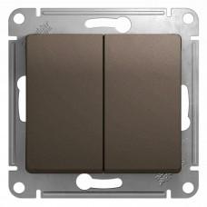 Glossa Шоколад Мех Выключатель 2-клавишный, сх.5, 10АХ GSL000851