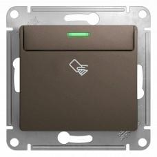 Glossa Шоколад Мех Выключатель карточный, сх.6 GSL000869