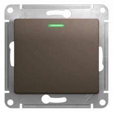 Glossa Шоколад Мех Переключатель 1-клавишный с подсветкой сх.6а, 10АХ GSL000863