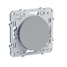 Odace Алюминий Выключатель кнопочный 1-клавишный S53R206