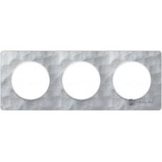 Odace Алюминий Мартель/Белый Рамка 3-я S52P806K