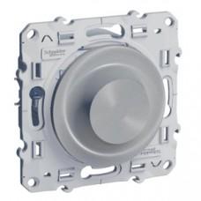 Odace Алюминий Светорегулятор поворотный 40-600 ВА S53R511