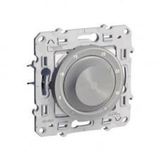 Odace Алюминий Термостат электронный комнатный 10А с датчиком тёплого пола S53R507