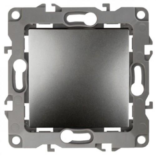 12-1108-12 ЭРА Переключатель промежуточный, 10АХ-250В, Эра12, графит (10/100/2500) Б0019303