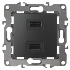 12-4110-05 ЭРА Устройство зарядное USB, 5В-2100мА, Эра12, антрацит (6/60/1920) Б0027495