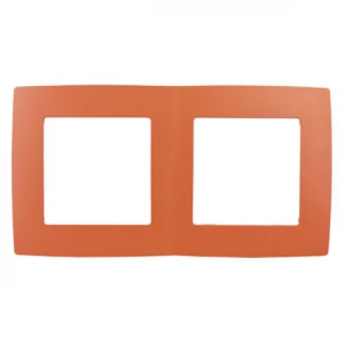 12-5002-22 ЭРА Рамка на 2 поста, Эра12, оранжевый (10/100/2500) Б0019396