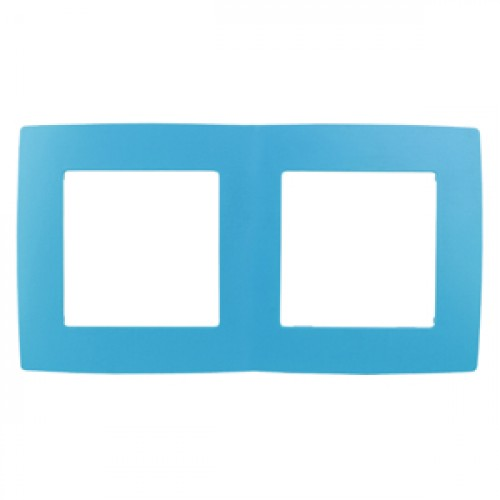 12-5002-28 ЭРА Рамка на 2 поста, Эра12, голубой (10/100/3000) Б0019402